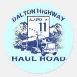 DALTON HIGHWAY HAUL ROAD ROUND STICKER