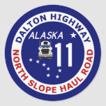 Dalton Highway, North Slope Haul Road Round Stickers