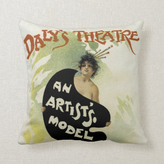 Daly's Theatre ~ An Artist's Model Throw Pillow
