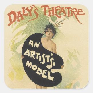 Daly's Theatre Square Sticker