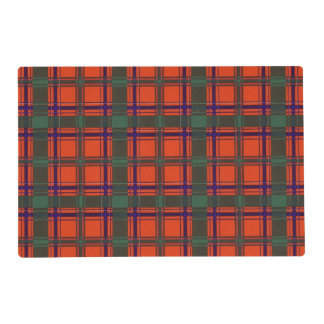 Dalzell clan Plaid Scottish tartan Laminated Place Mat