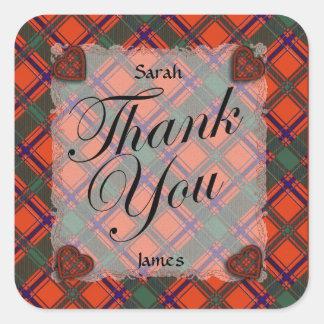 Dalzell Scottish clan tartan - Plaid Stickers