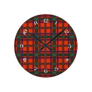 Dalzell Scottish Tartan Round Clock