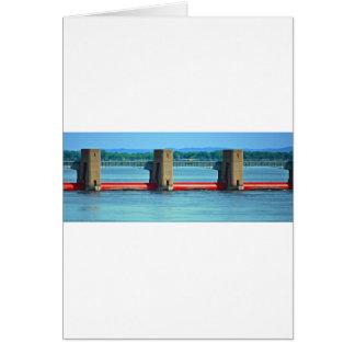 dam across upper mississippi greeting card