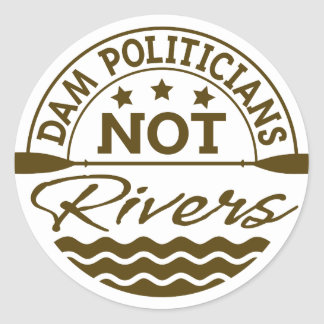 DAM Politicians NOT Rivers Sticker