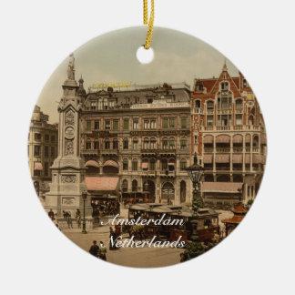 Dam Square, Amsterdam, Netherlands Christmas Ornament
