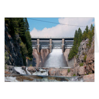 Dam Water Release Greeting Card
