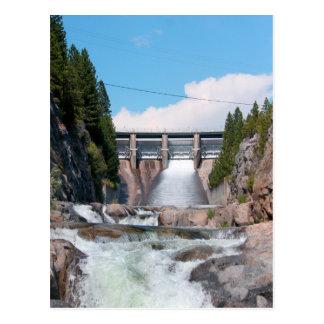 Dam Water Release Postcard