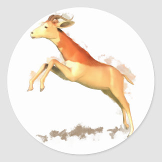 Dama Gazelle Round Sticker
