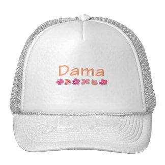 Dama peach color trucker hat