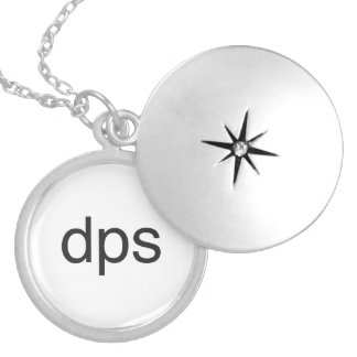 damage per second.ai round locket necklace