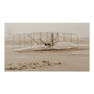 Damaged 1903 Wright Brothers Airplane Poster