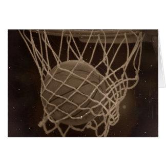 Damaged Basketball Photo Greeting Card