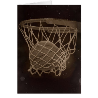Damaged Basketball Photo Greeting Cards
