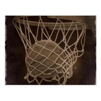 Damaged Basketball Photo Post Card