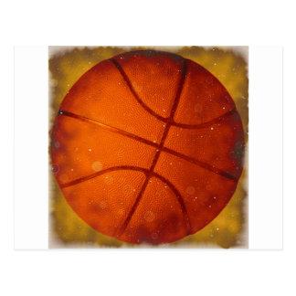 Damaged Basketball Photo Postcard