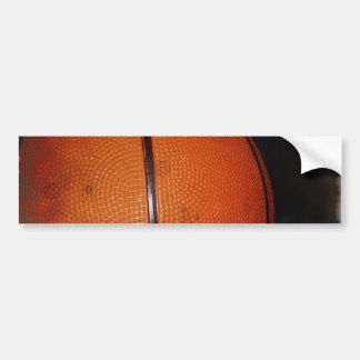 Damaged Photo Effect Basketball Bumper Sticker