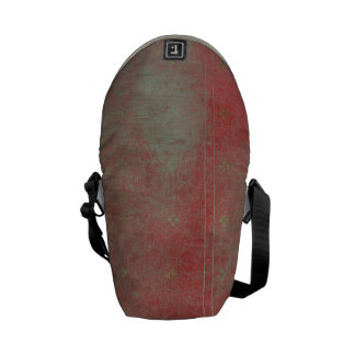 Damaged Red Pattern Grungy Background Messenger Bag