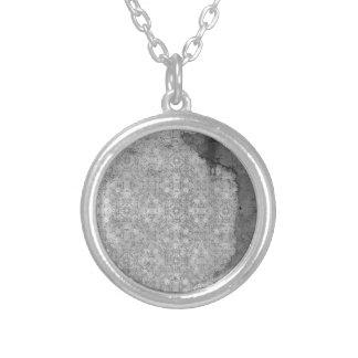 damaged silver paper background pendants