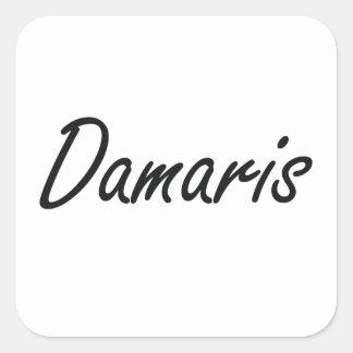 Damaris artistic Name Design Square Sticker