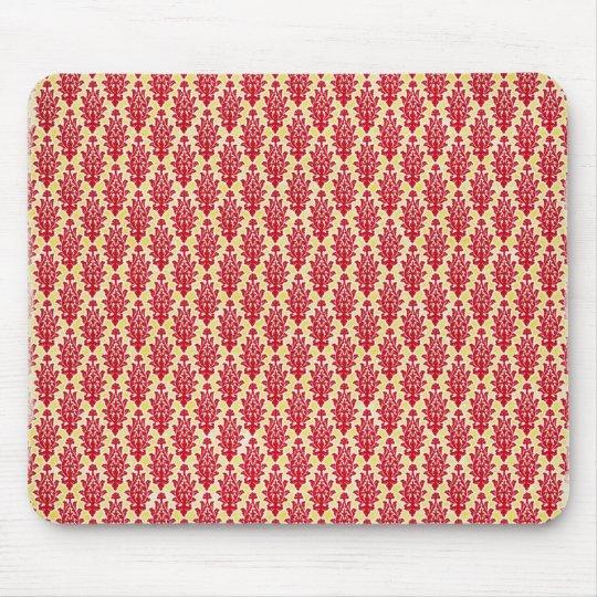 damask07-redyellow RED YELLOW DAMASK  PATTERN TEMP Mouse Mat
