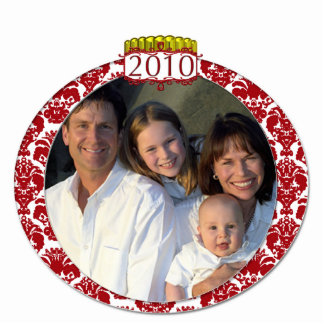 Damask 2010 Family Photo Christmas Ornament Photo Sculpture Decoration