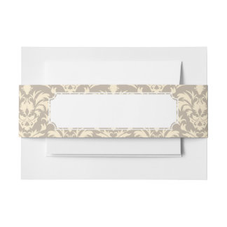 Damask 2 invitation belly band