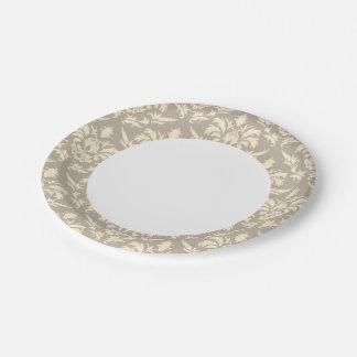 Damask 2 paper plate