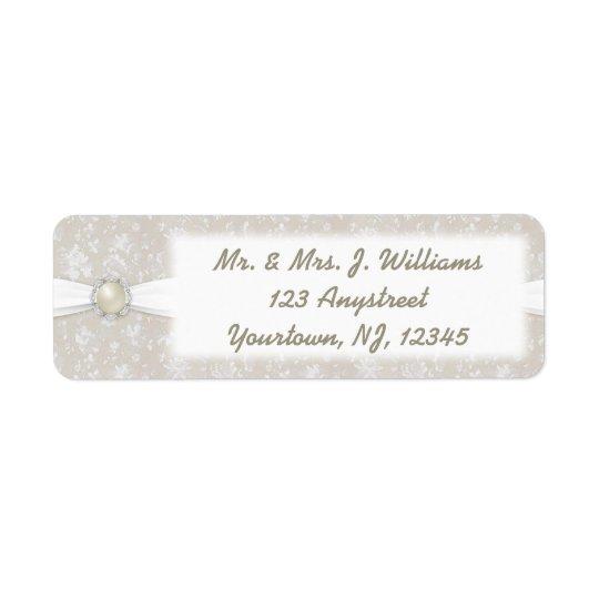 Damask 30th Wedding Anniversary Address Label