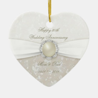 Damask 30th Wedding Anniversary Ornament