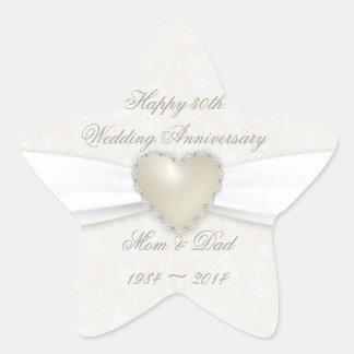 Damask 30th Wedding Anniversary Sticker