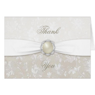 Damask 30th Wedding Anniversary Thank You Card