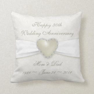 Damask 30th Wedding Anniversary Throw Pillow Throw Cushion
