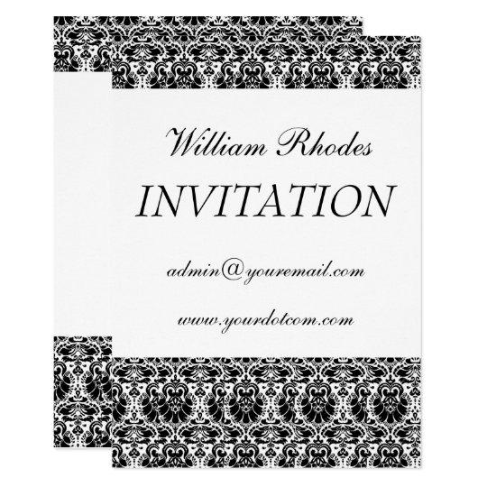 damask 3, Personal Invitation