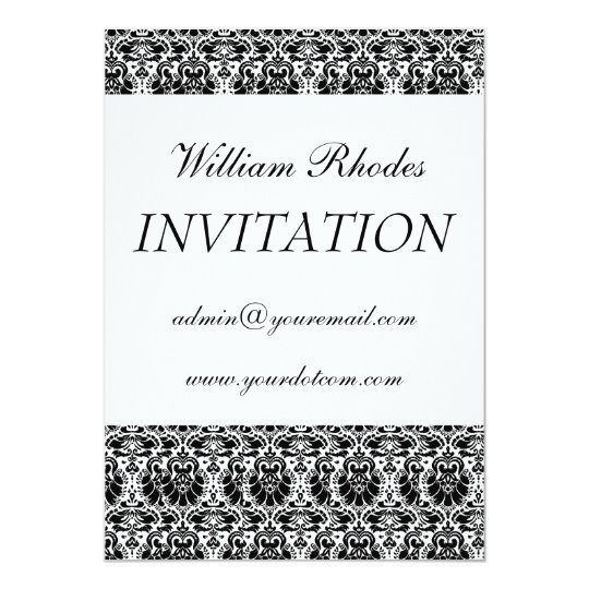 damask 3, Personal Invitation
