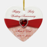 Damask 40th Wedding Anniversary Design