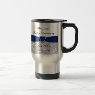 Damask 45th Wedding Anniversary Coffee Mug