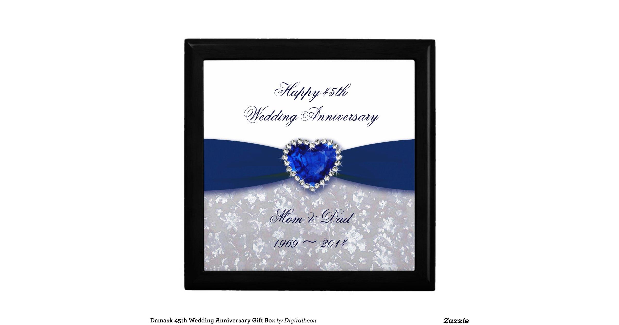 Gifts For 45th Wedding Anniversary: Damask 45th Wedding Anniversary Gift Box