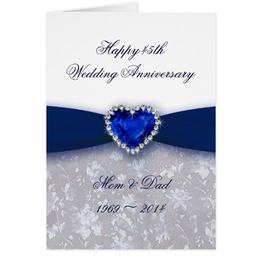 Blue sapphire anniversary cards photo card templates