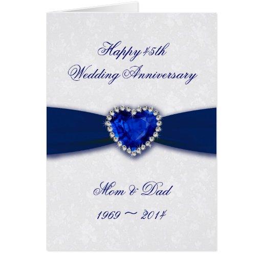 Damask 45th Wedding Anniversary Greeting Card Zazzle