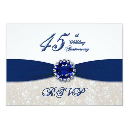Damask 45th Wedding Anniversary Invitation | Zazzle