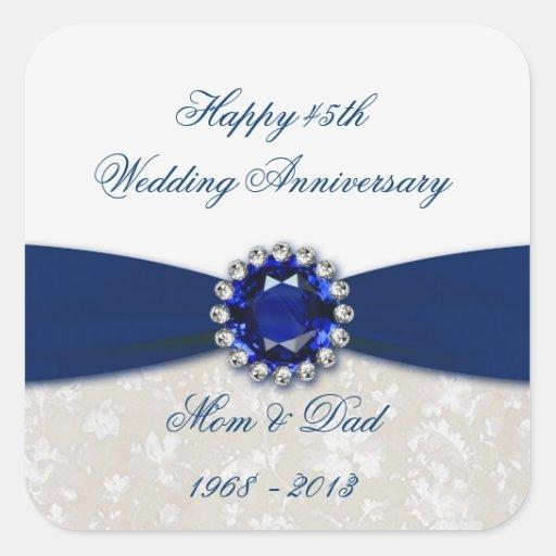 45th Wedding Anniversary Gift Ideas Uk : Damask 45th Wedding Anniversary Sticker Zazzle