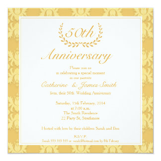 50th Wedding Anniversary Invitations & Announcements | Zazzle.co.uk