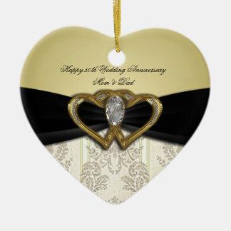 Damask 50th Wedding Anniversary Ornament