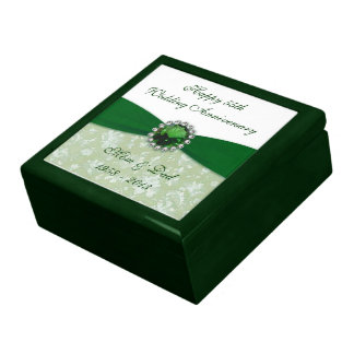 Damask 55th Wedding Anniversary Gift Box