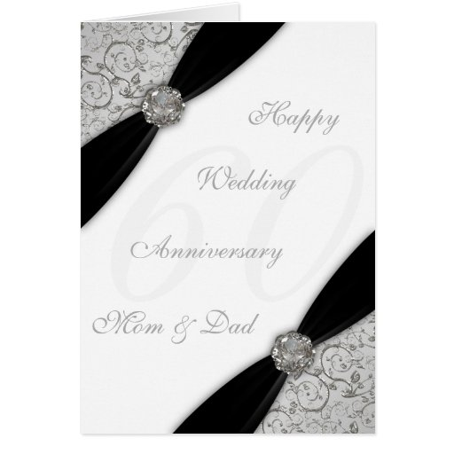 Wedding anniversary greeting cards psd ~ Damask th wedding anniversary greeting card zazzle