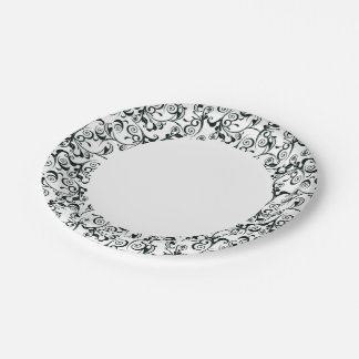 Damask 7 Inch Paper Plate