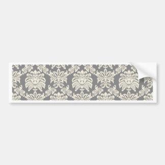 Damask - antique grey bumper sticker