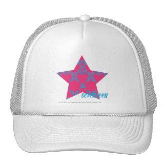 Damask Aqua-Magenta 2 Mesh Hats