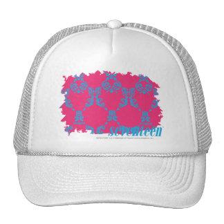 Damask Aqua-Magenta 3 Hat